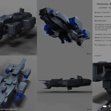 Chester Class Terran Fighter Bomber - Technical Specifical View