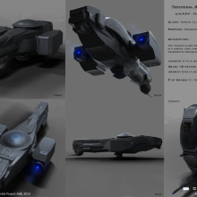 Yamato Class Terran Reconnaissance Fighter - Technical Specifical View