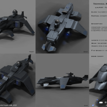 Vulturer Class Terran Atmospheric Fighter - Technical Specifical View