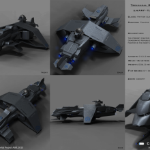 Patton Class Terran Fighter - Technical Specifical View