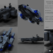 Badger Class Terran Missile Fighter - Technical Specifical View