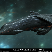 Asadan Class Destroyer - Technical Specification View by Anton Cherevan