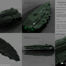 Sevmade Class Fightercraft Carrier - Technical Specification View by Anton Cherevan