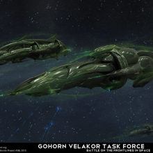 Gohorn Velakor in Space by Anton Cherevan