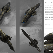 Zarter Class Battleship - Technical Specification View by Anton Cherevan
