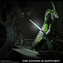 One Gohorn is Sufficient Matte Painting by David Collins