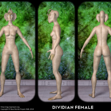 Dividian Female Concept by David Collins