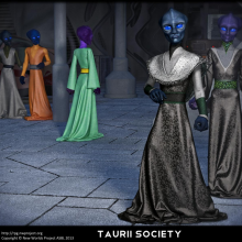 Taurii Society Matte Painting by David Collins