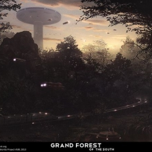 Grand Forest of the South Acadanan Matte Painting by James Ledger