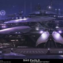 Sao Paolo Earth Matte Painting by James Ledger