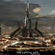 The Capital City Matte Painting by Adam Burn