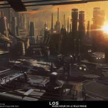 Los Rush Hour Matte Painting by James Ledger