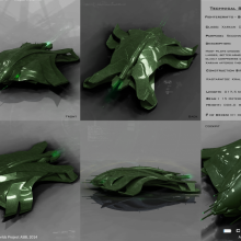 Xarxan Class Gohorn Reconnaissance Fighter Tech Spec by Anton Cherevan