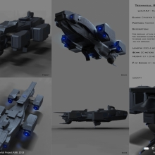 Chester Class Fighter-Bomber Tech Spec View by Anton Cherevan