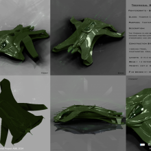 Raqwan Class Gohorn Fighter Bomber Tech Spec by Anton Cherevan