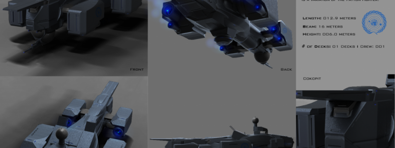 Badger Class Terran Missile Fighter Tech Spec by Anton Cherevan