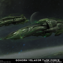 Gohorn Velakor Battle of Yontrez Matte Painting by Anton Cherevan